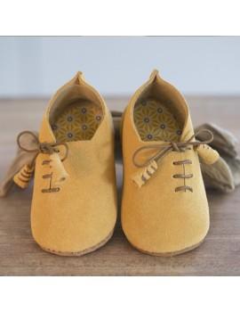 Sapato bebé Marsi ocra/cognac